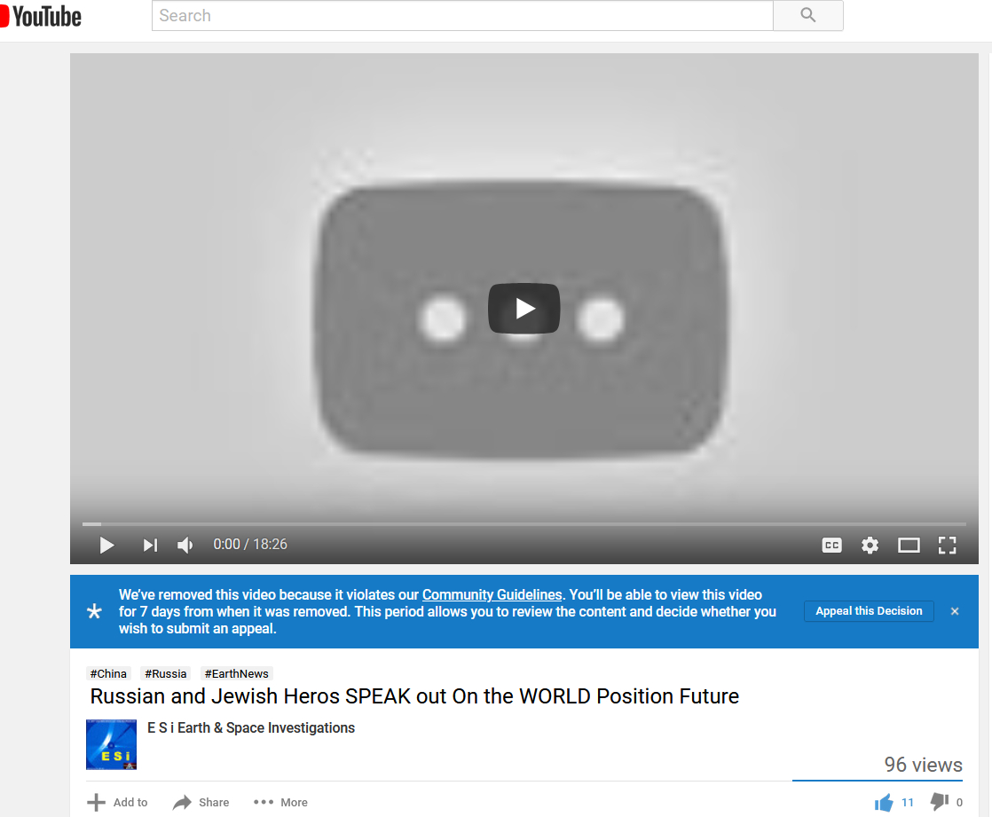 INFORMATION BANNED On Youtube WONDER WHY a MUST WAKE UP VIDEO
